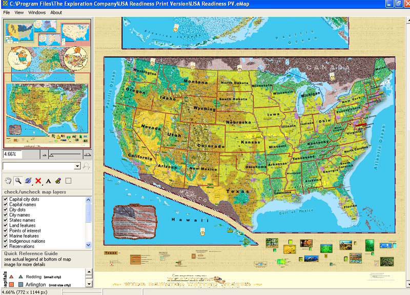 Printable Readiness U.S. eMap™ for Windows PC