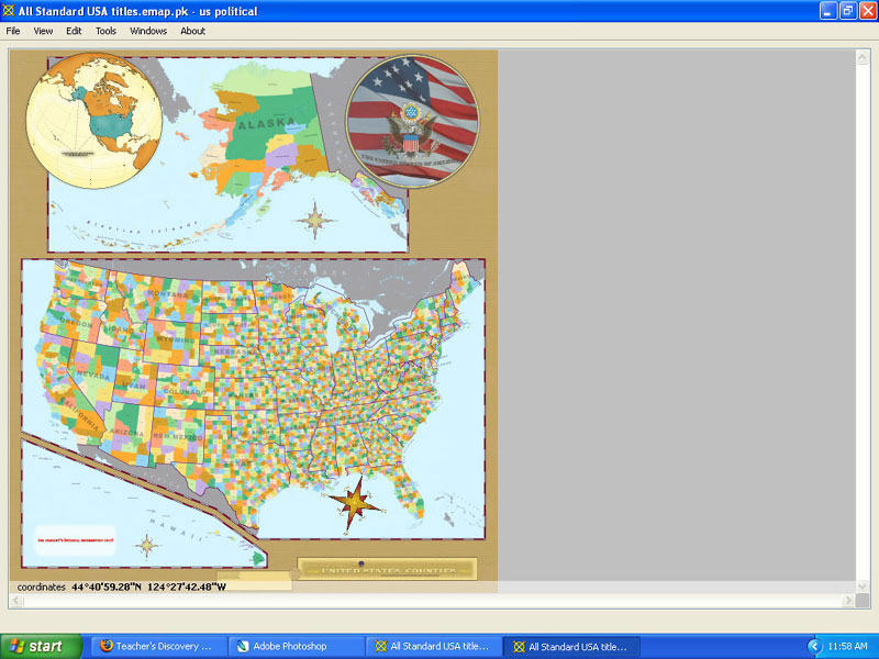 U.S. Counties eMap, CD for Windows