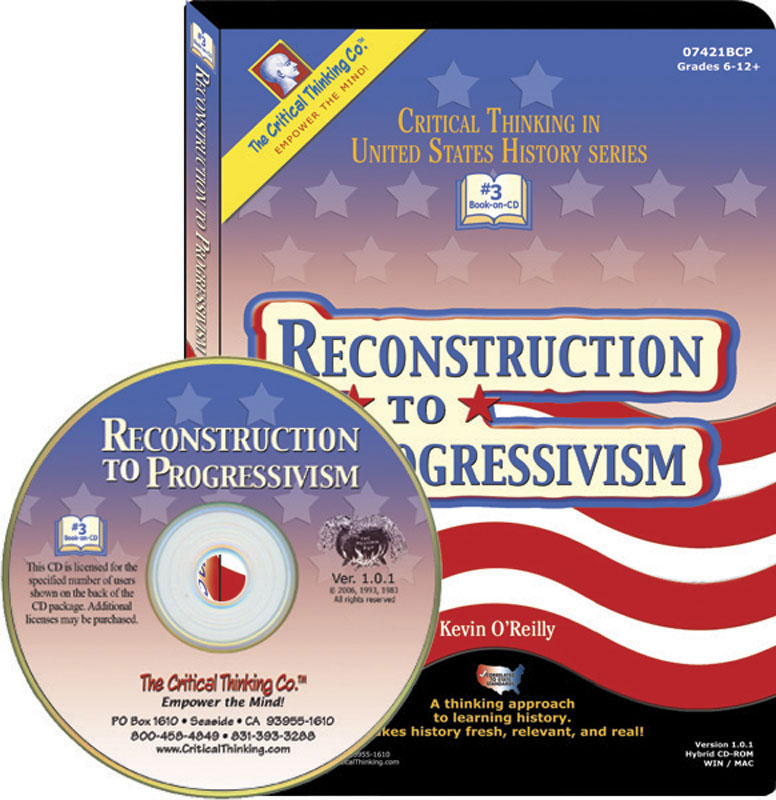Reconstruction to Progressivism Book on CD
