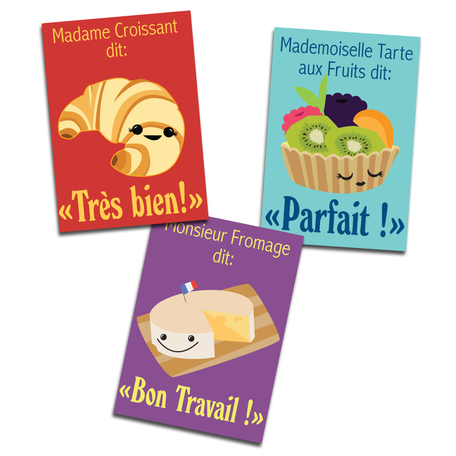 Monsieur Fromage & Friends French Stickers (60)