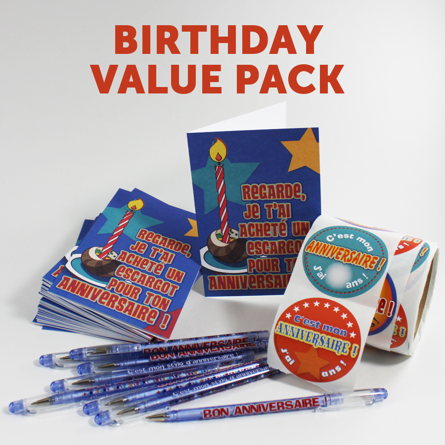 Birthday Value Pack - French