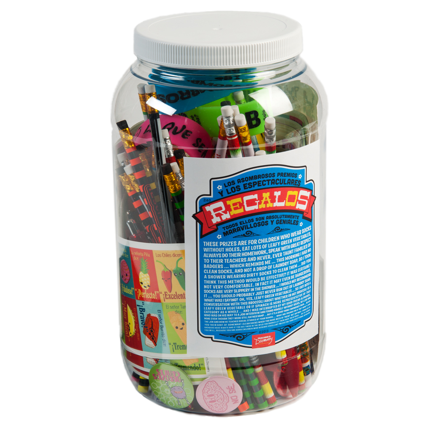 Prize Jar Incentive Spanish Assortment 100+ Pieces