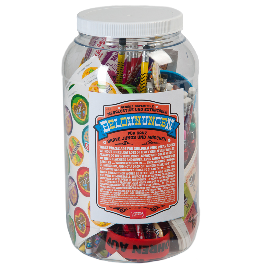Prize Jar Incentive German Assortment 100+ Pieces