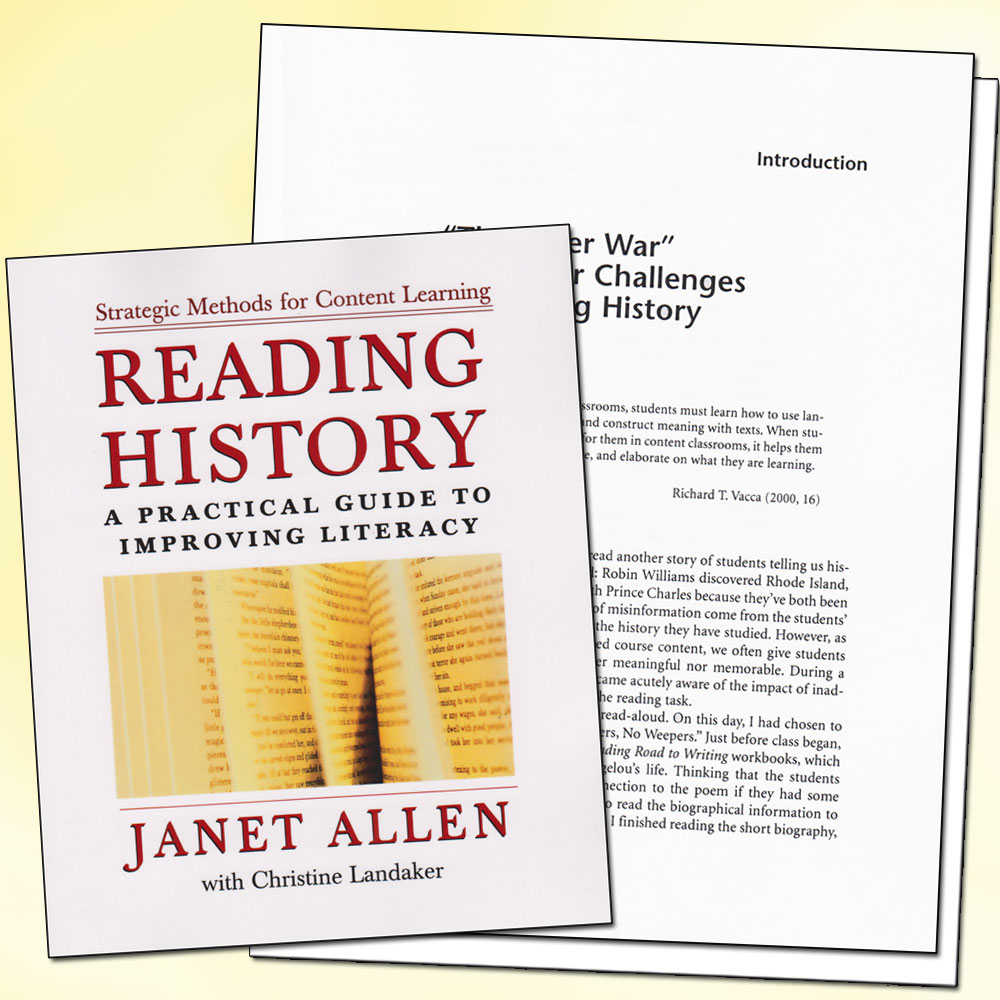 Reading History A Practical Guide to Improving Literacy Book