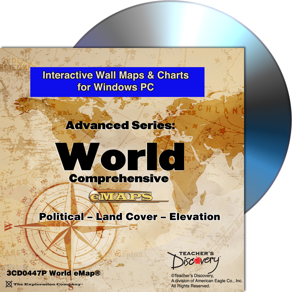 Complete World Classroom eMap™ for Windows PC