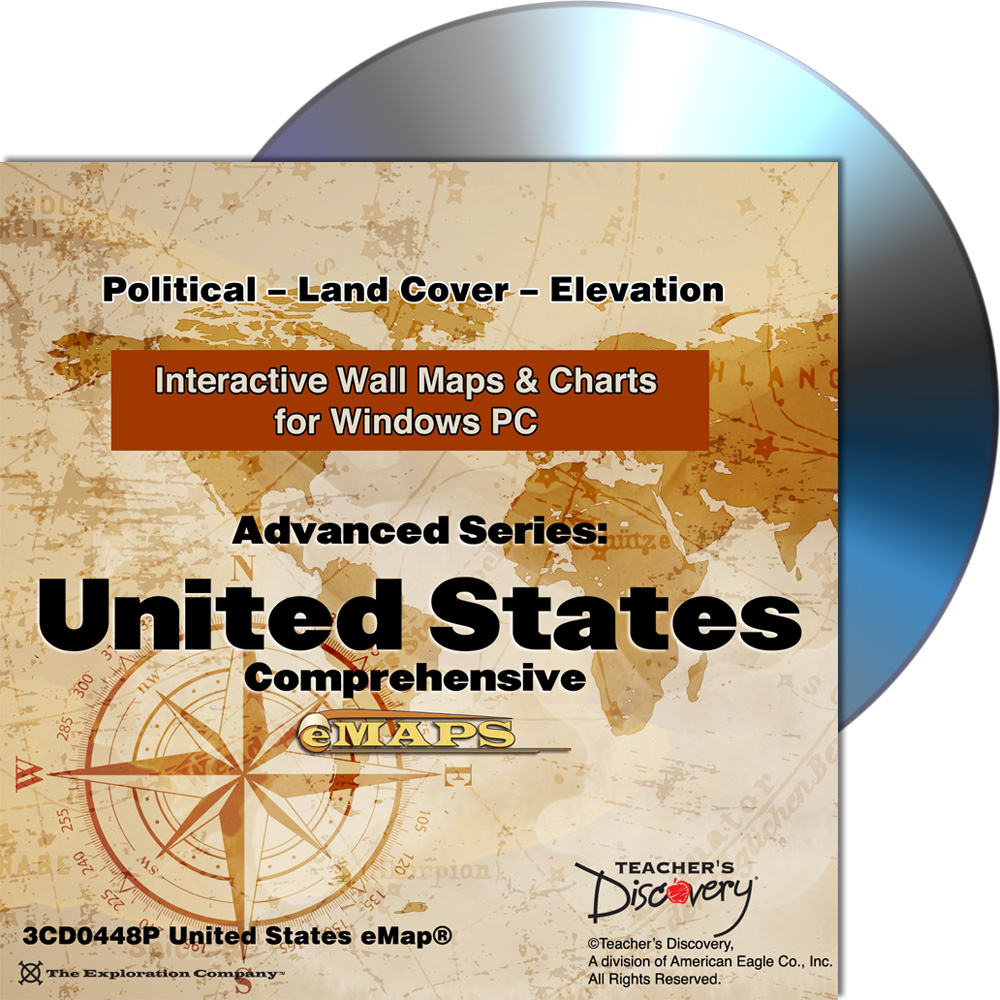 Complete U.S. Classroom eMap™ for Windows PC