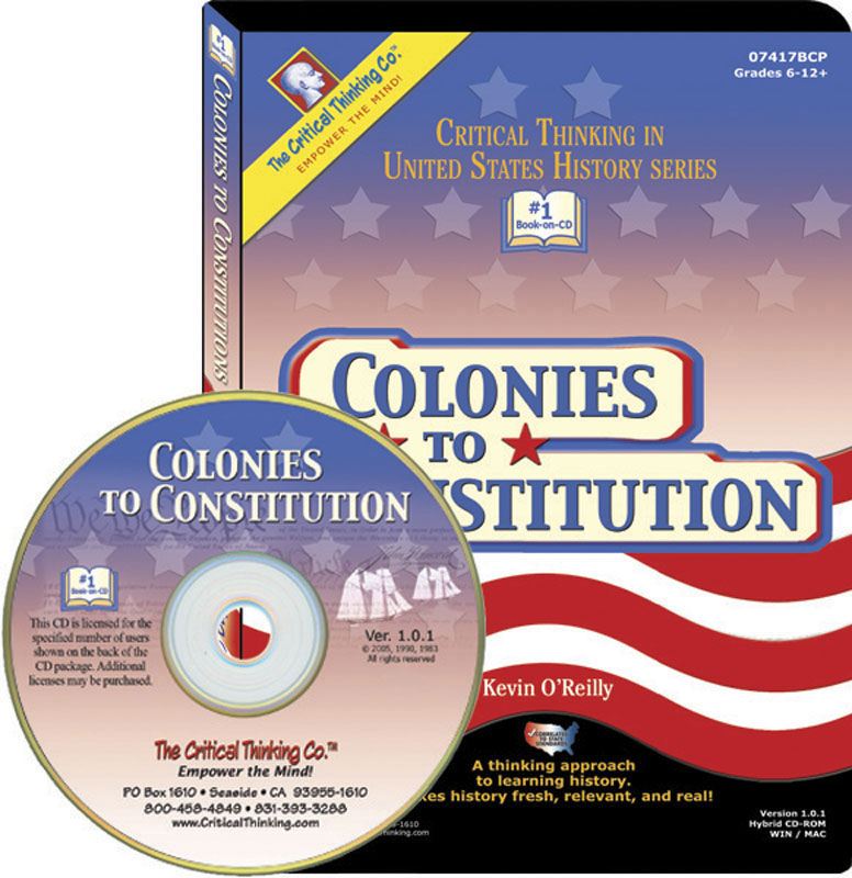 Colonies To Constitution Book on CD