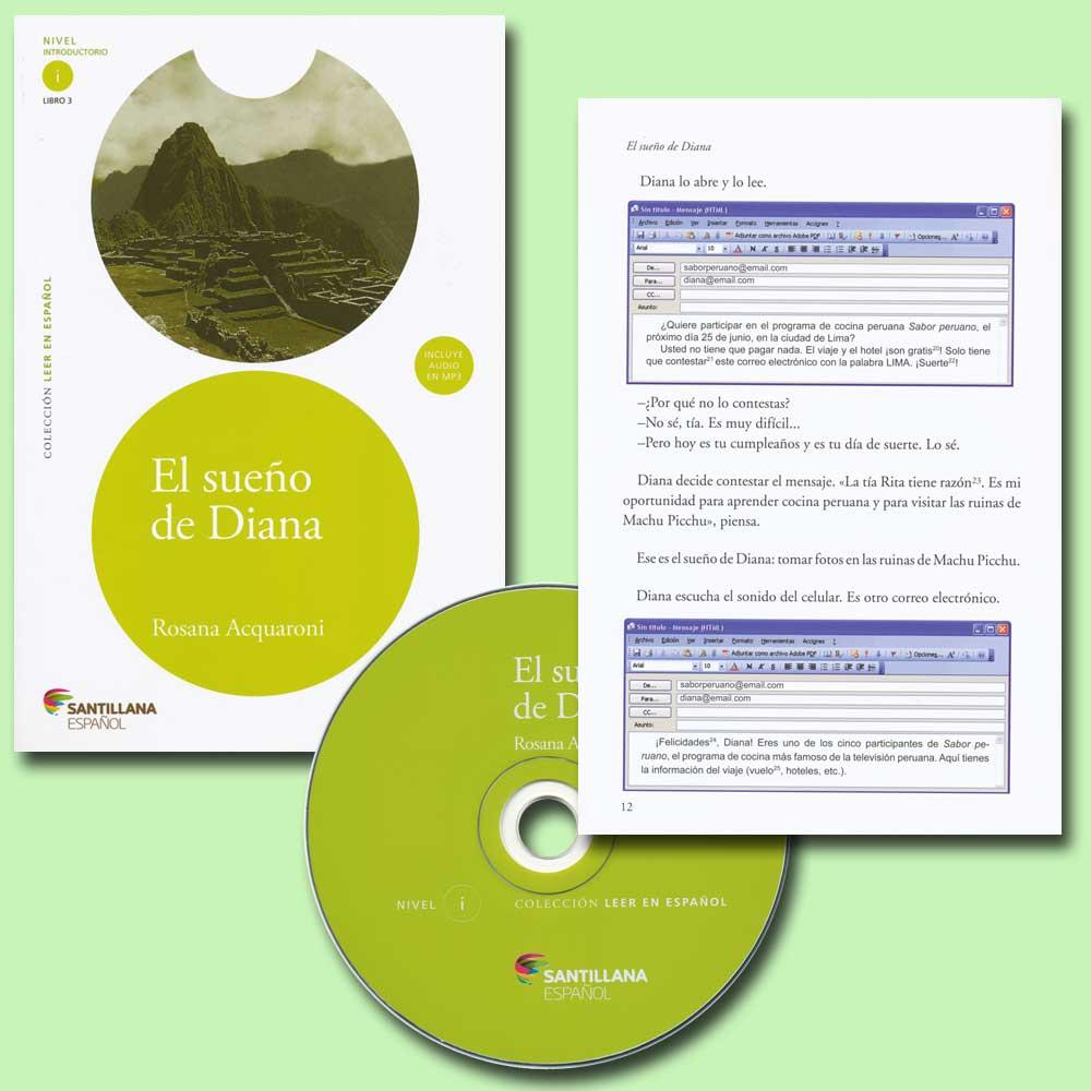 El sueño de Diana Spanish Reader + Audio CD Nivel Introductorio i Libro 3