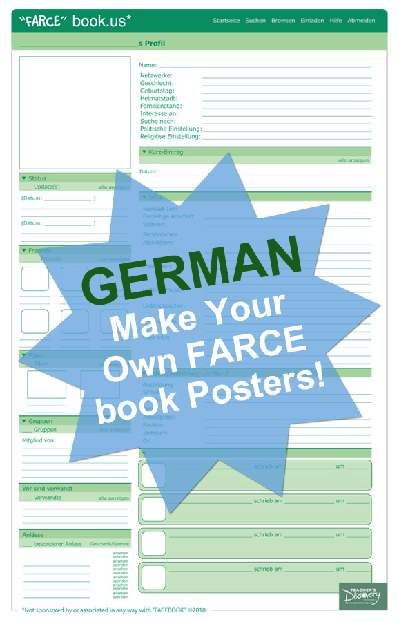 "Make Your Own ""FARCE"" book Posters GR (30)"