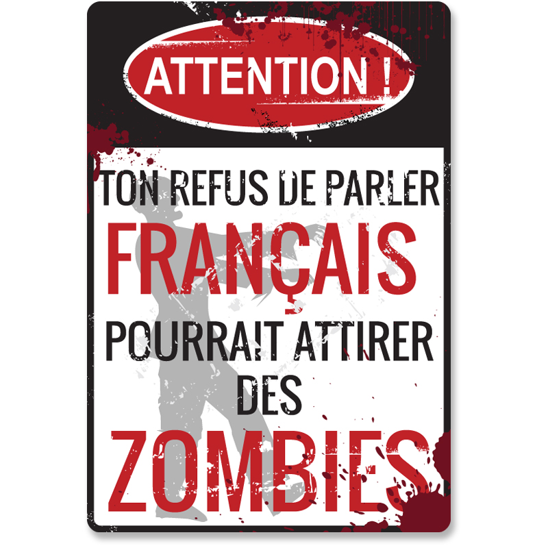 Conditional Tense French Zombie Mini-poster