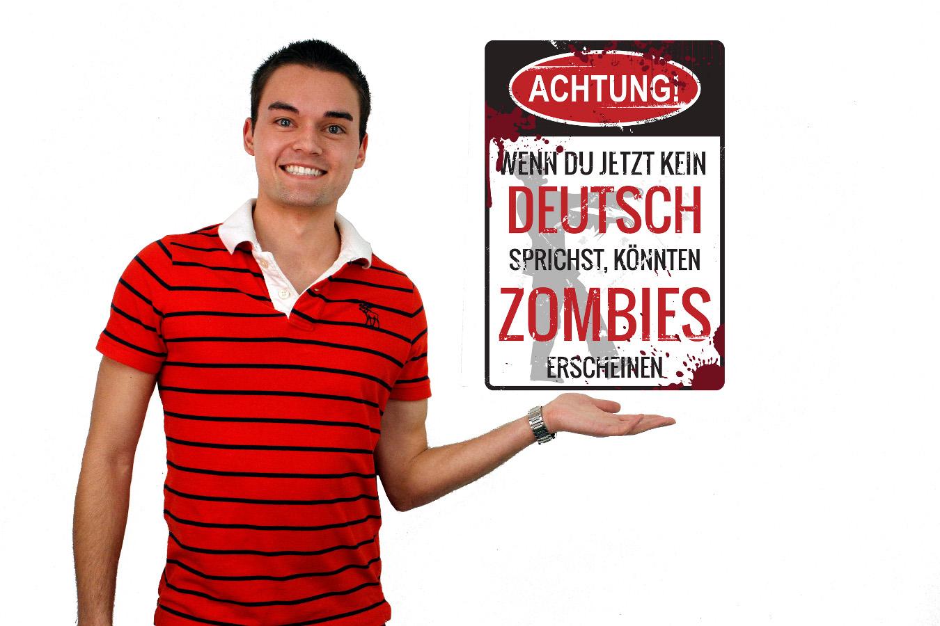 Conditional Tense German  Zombie Mini-Poster