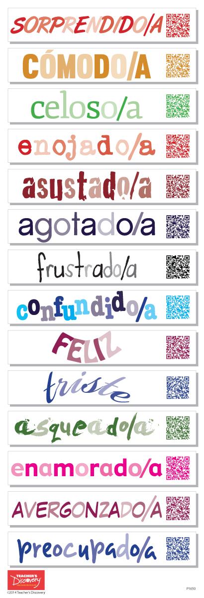 Spanish Emotions QR Code Skinny Poster