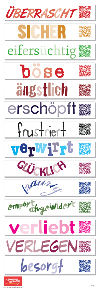 German Emotions QR Code Skinny Poster