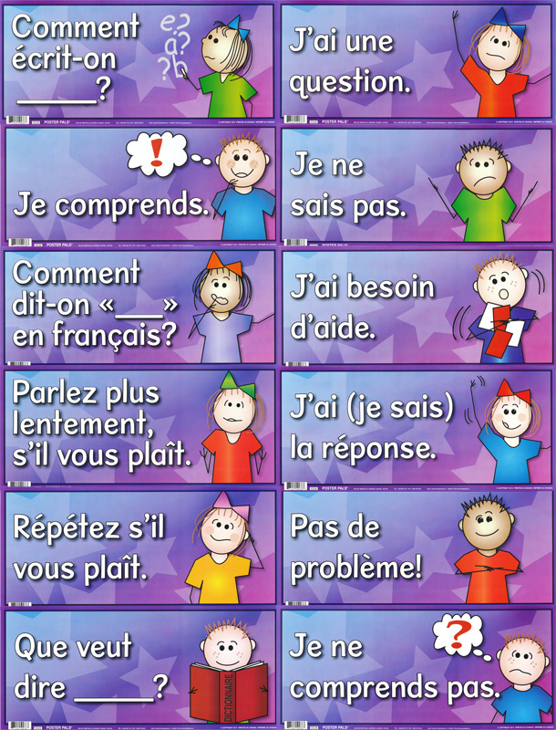 Anchor Charts for French Classroom Interactions Set of 12