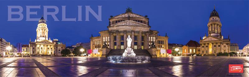 Berlin Panoramic German Poster