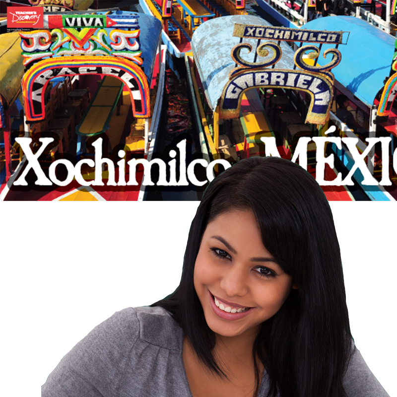 Xochimilco Panoramic Spanish Poster