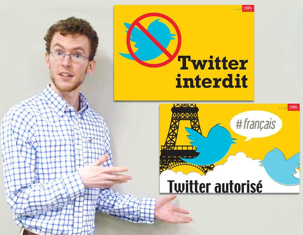 To Tweet or Not to Tweet French Mini-Poster