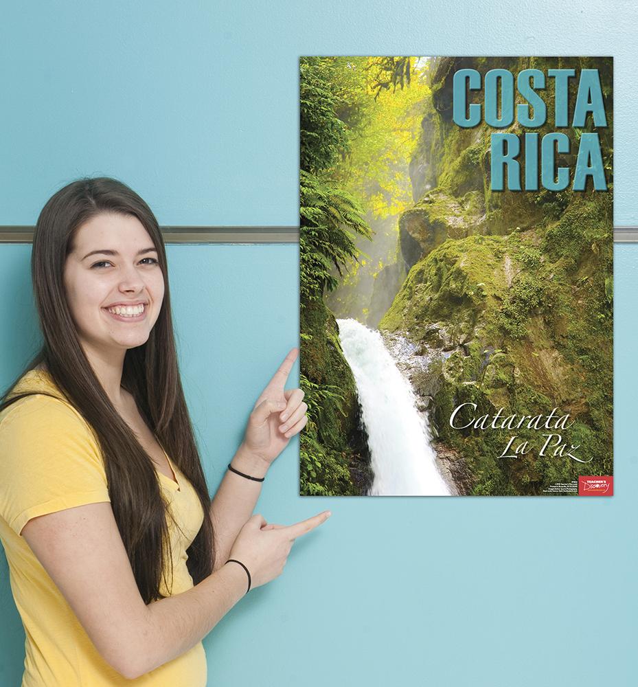 Costa Rica Spanish Travel Poster