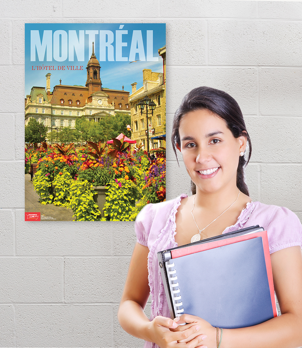Montreal French Travel Poster