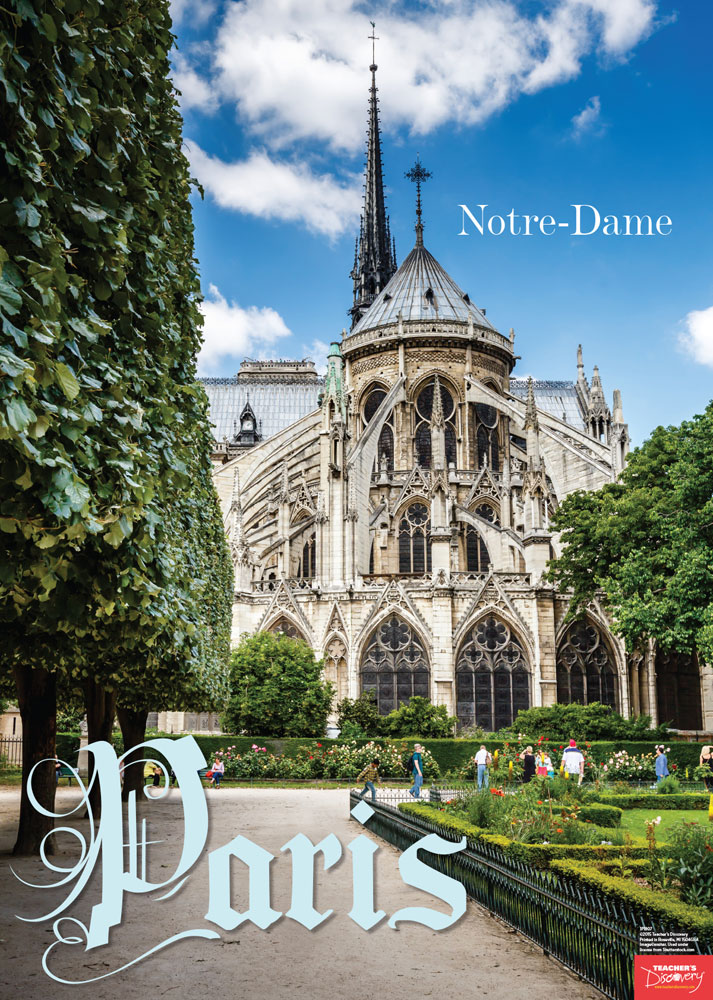 Notre Dame French Travel Poster