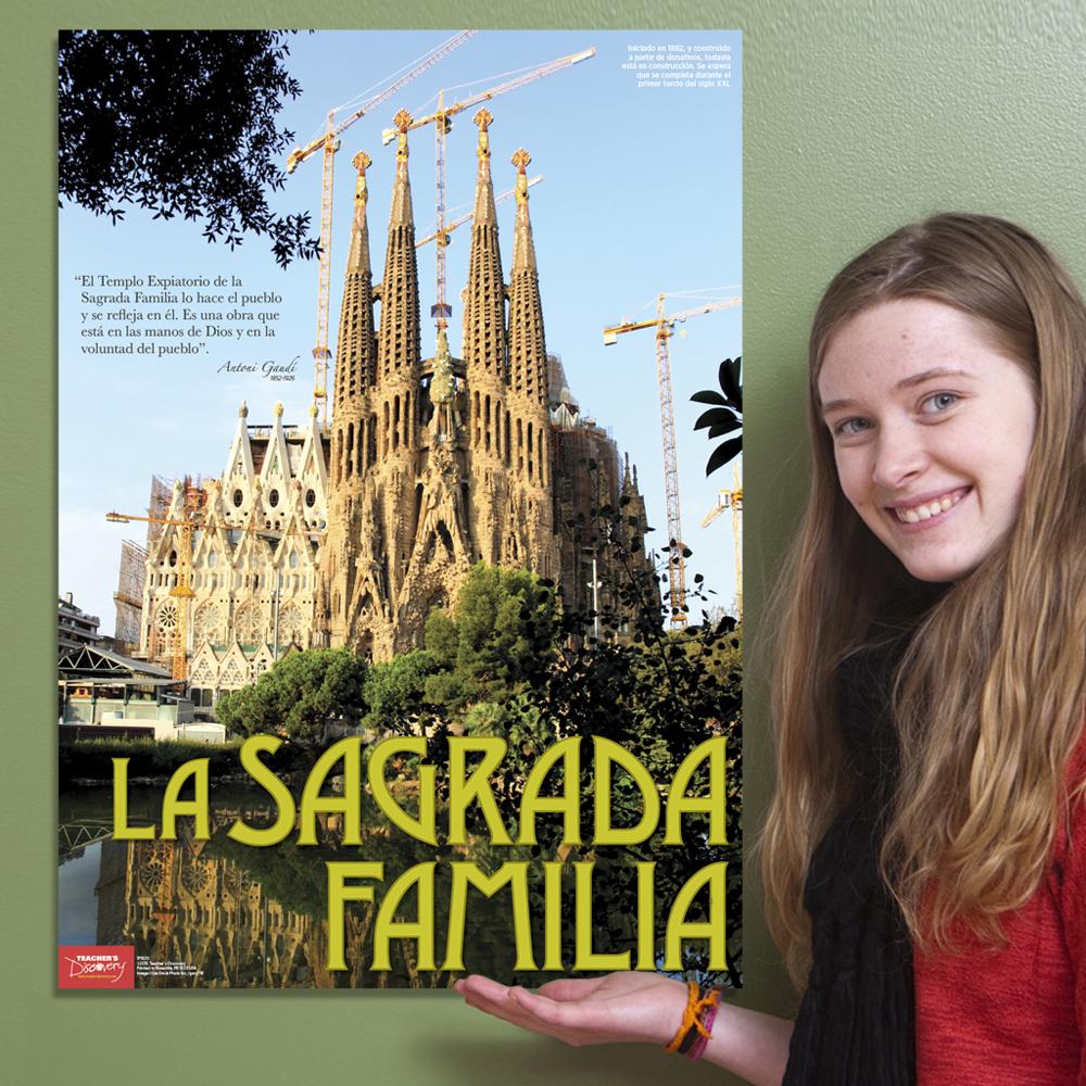 La Sagrada Familia Spanish Travel Poster