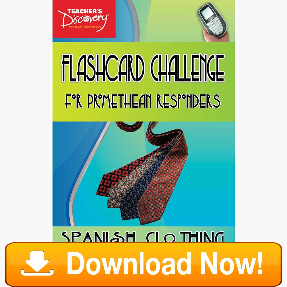 Spanish Digital Flashcard Challenge Promethean Clothing Download