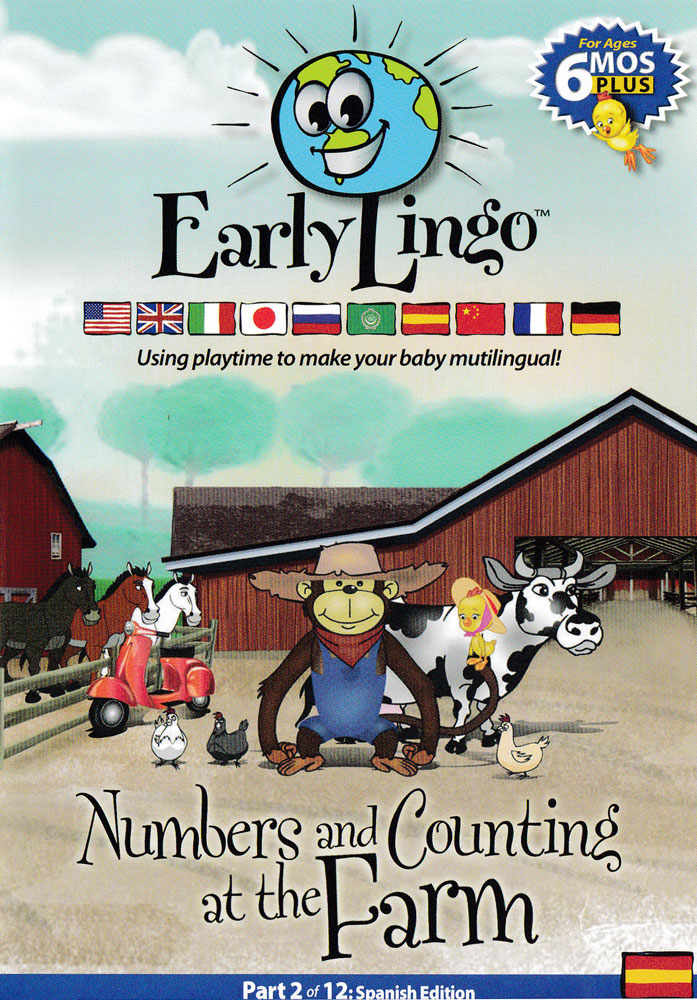 Early Lingo Numbers And Counting at the Farm Spanish DVD