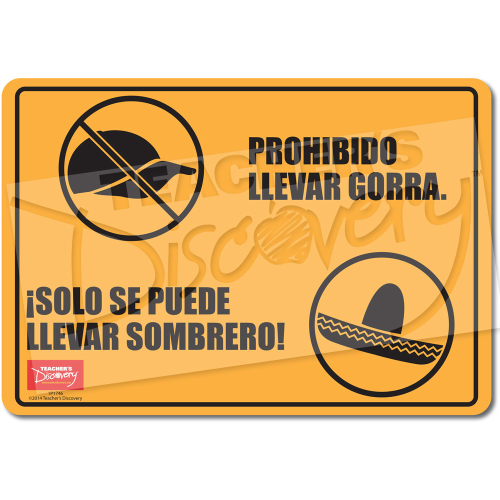 No Caps, Only Sombreros Spanish Mini-Poster