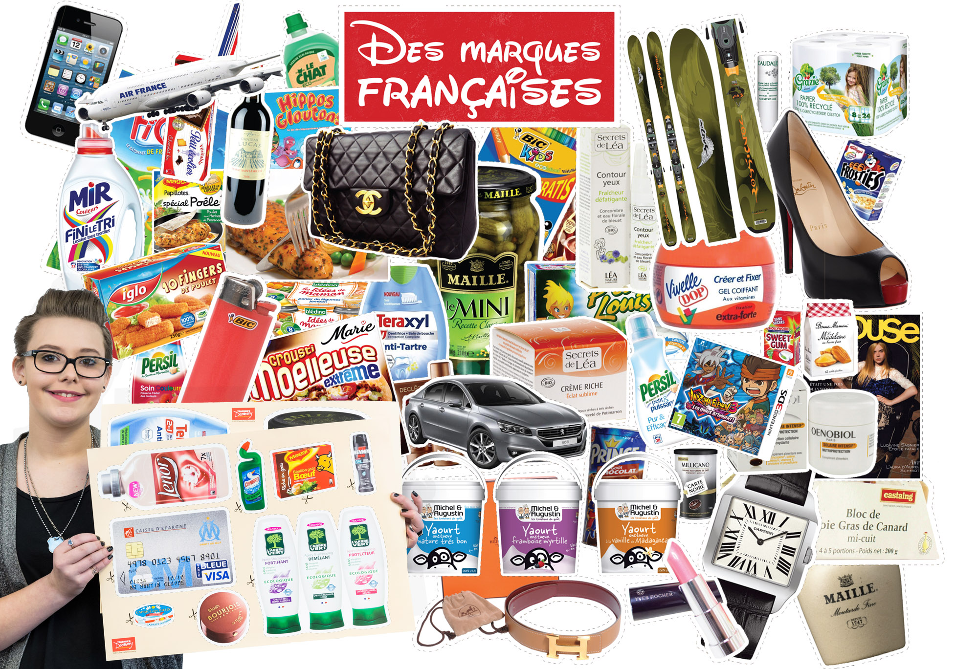 Des marques Francaises Bulletin Board Set