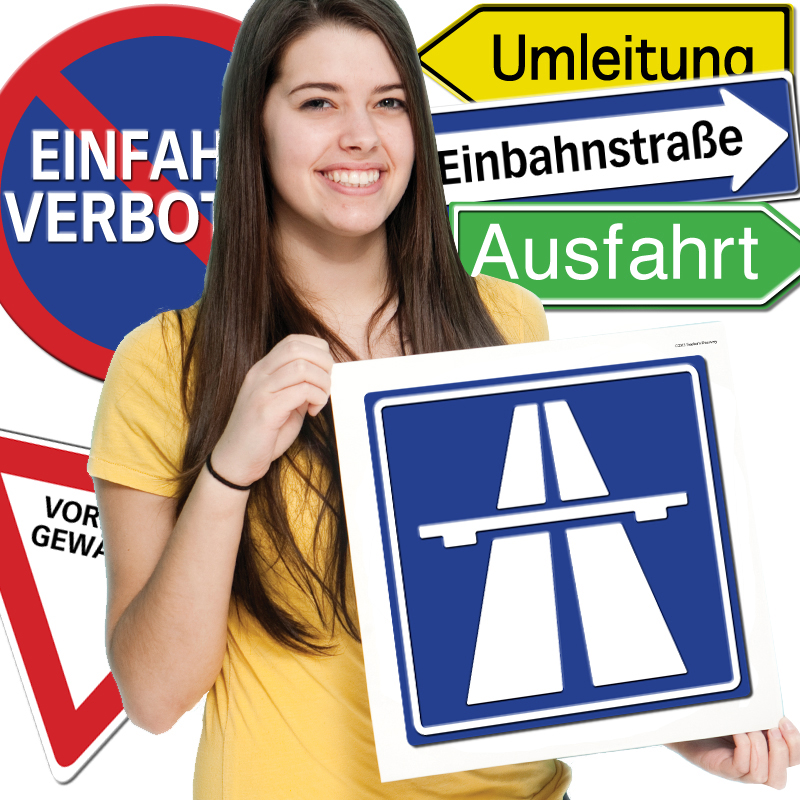 Road Signs German Bulletin Board Set