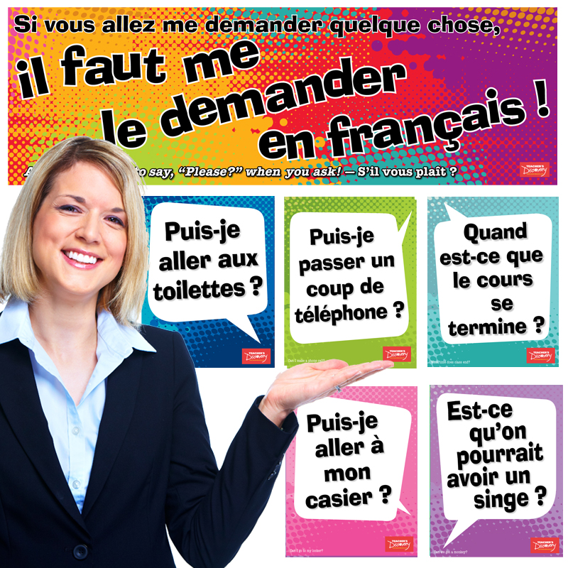 Ask Me? French Bulletin Board Set