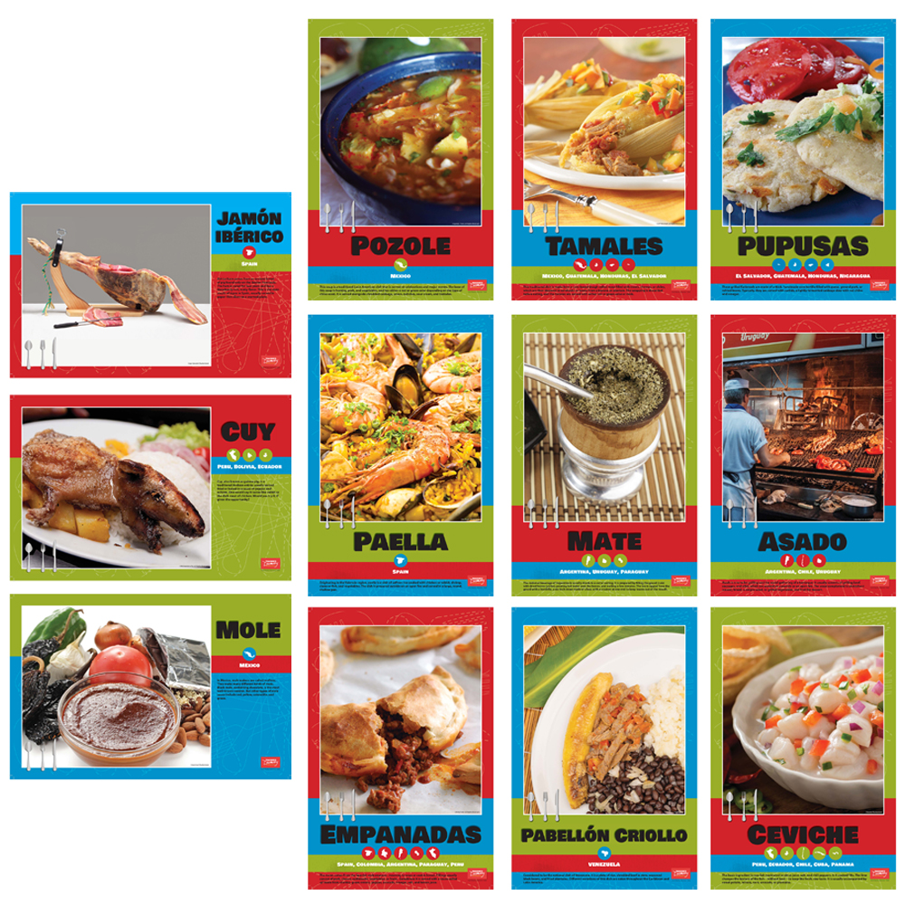 Spanish Regional Foods Bulletin Board Sets
