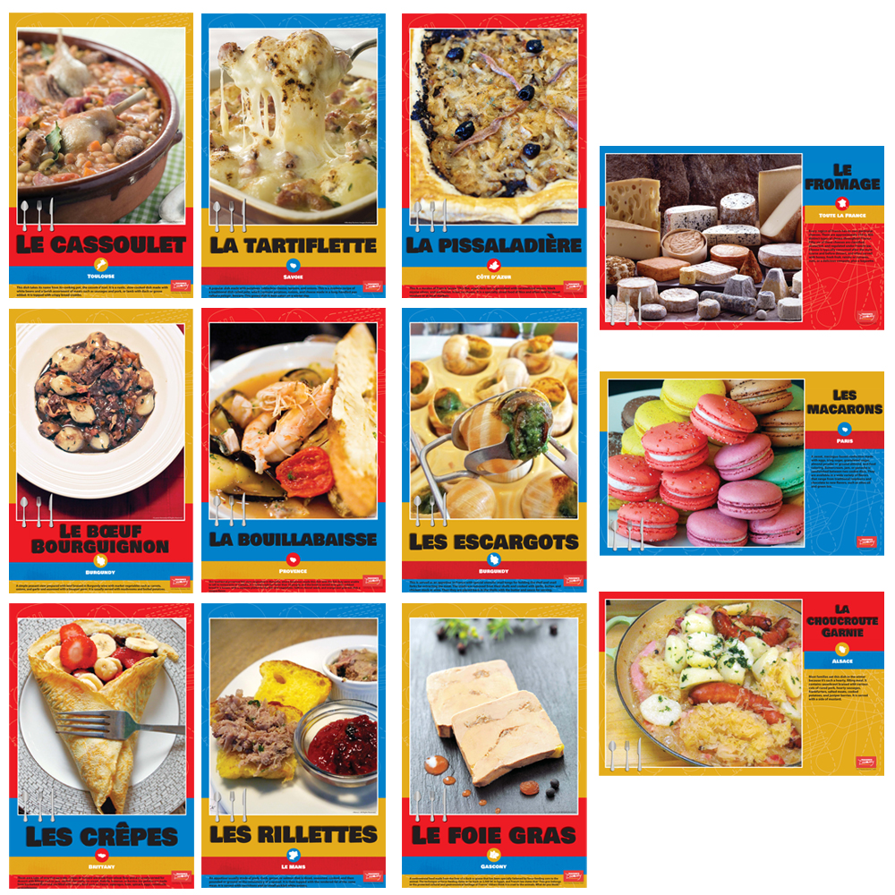 French Regional Foods Bulletin Board Sets