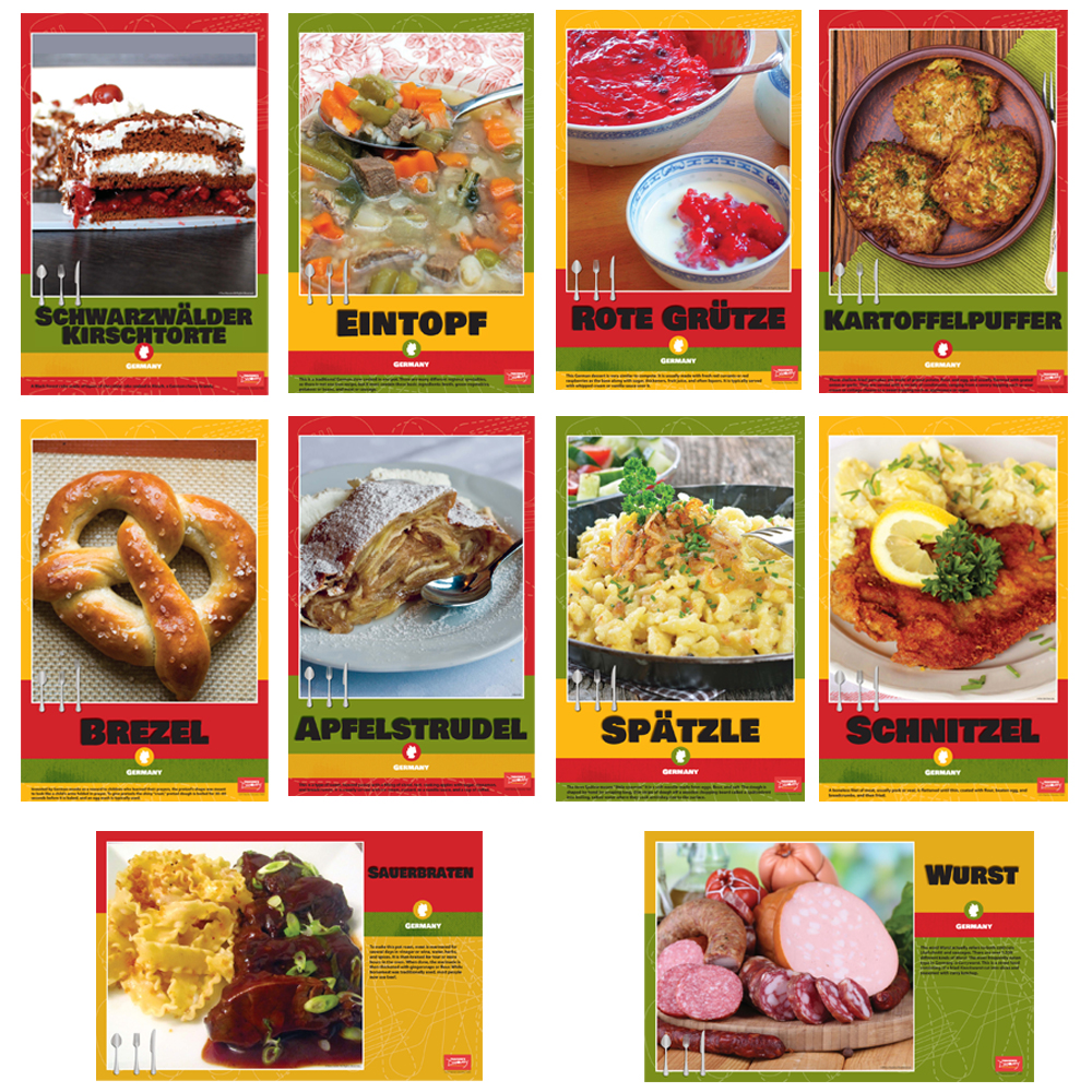 German Foods Bulletin Board Sets