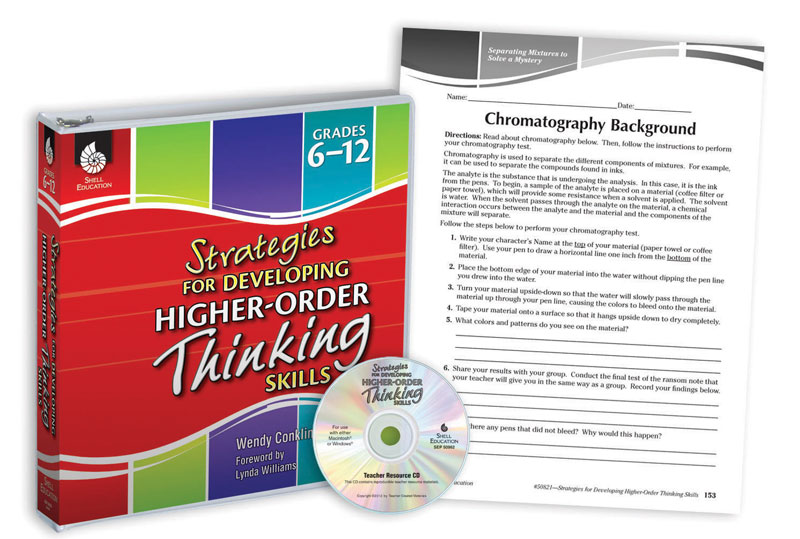 Strategies for Developing Higher-Order Thinking Skills Binder