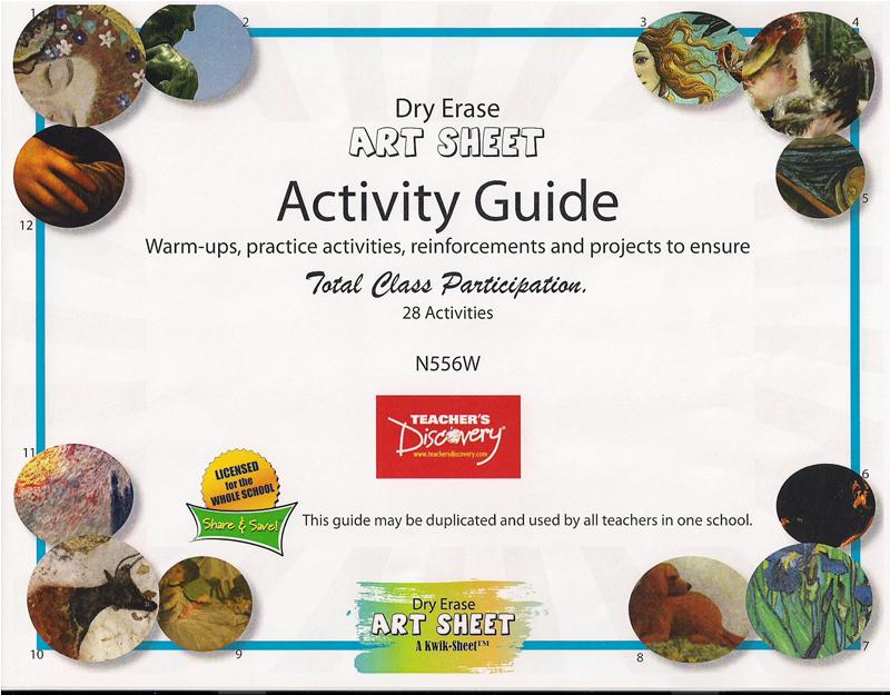 Dry Erase Art Sheet Activity Guide