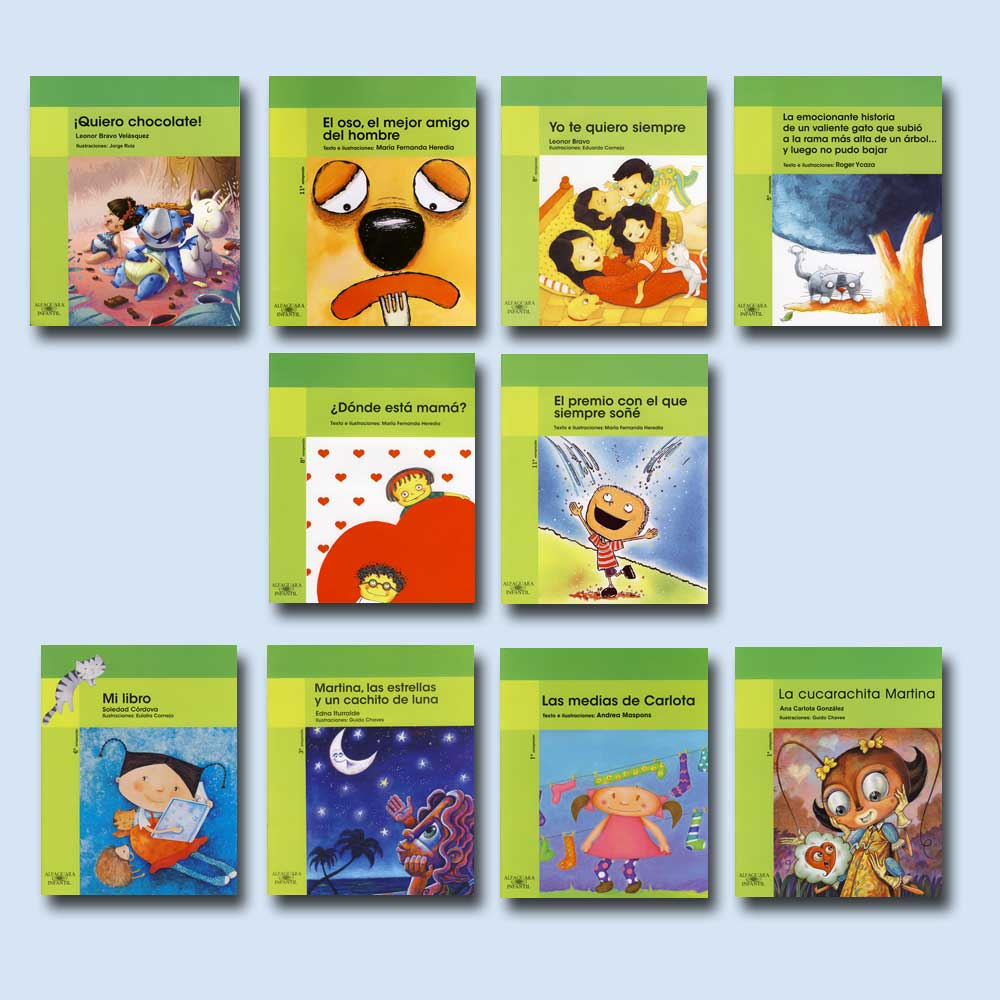 Green Series Spanish Books Set of 10