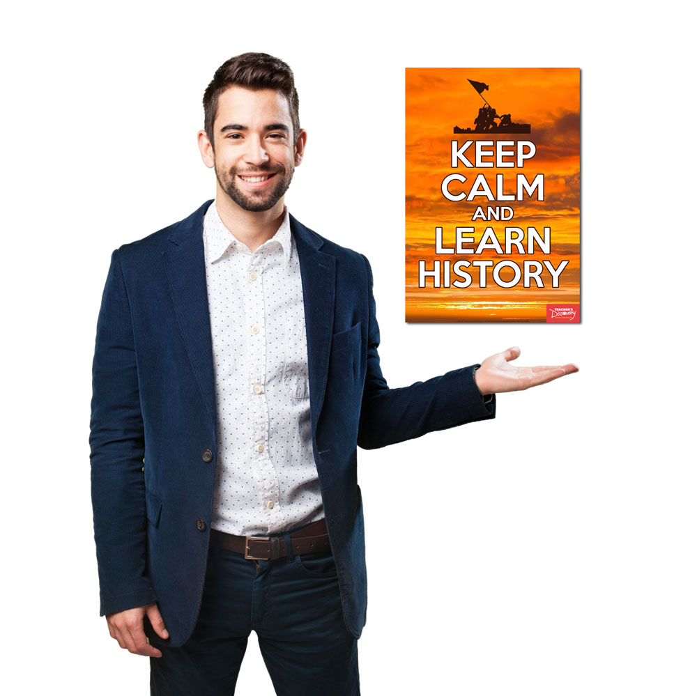 Keep Calm and Learn History Mini-Poster