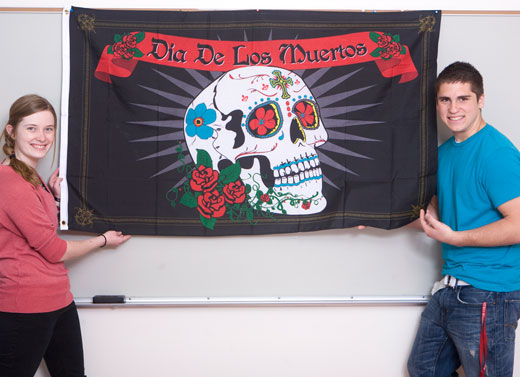 Day of the Dead Flag (5 x 3 feet)