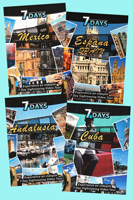 7 Days Set of 4 Spanish DVDs