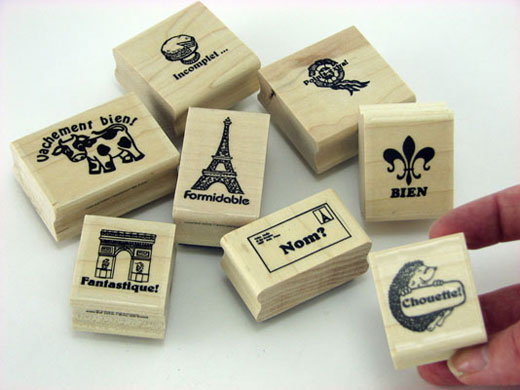 Set of 8 French Stampers