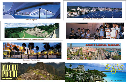 Panoramic Spanish Posters Set of 8 Posters