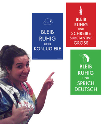 Keep Calm German 3 Mini-Poster Set