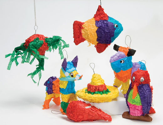 Mini-Pinatas Set of 7