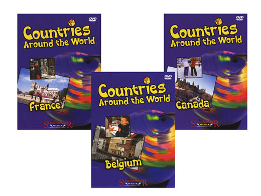 Countries Around The World French Set of 3 DVDs