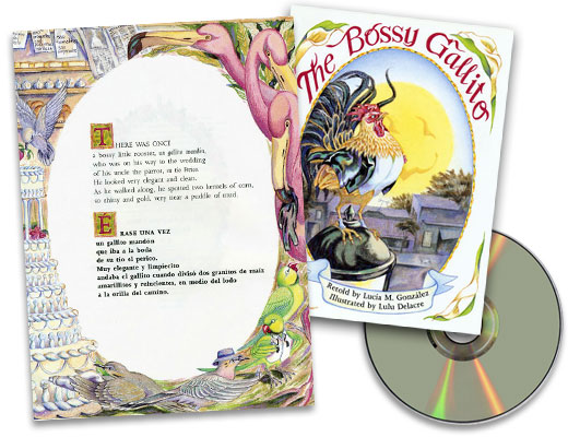 The Bossy Gallito Bilingual Spanish-English Story Book & CD