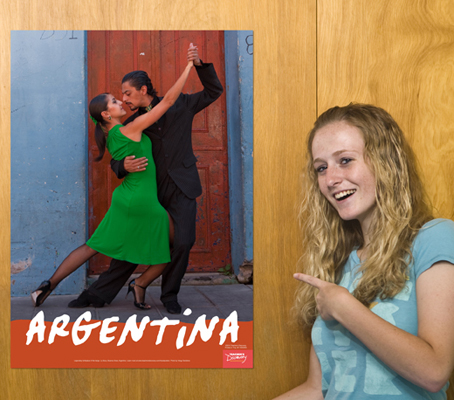 Tango Dancers Argentina Travel Posters
