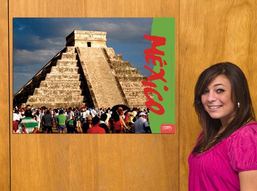 Chichen Itza Mexico Travel Poster