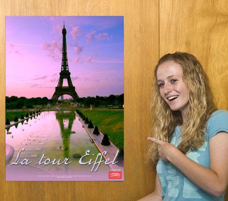 La Tour Eiffel French Travel Poster