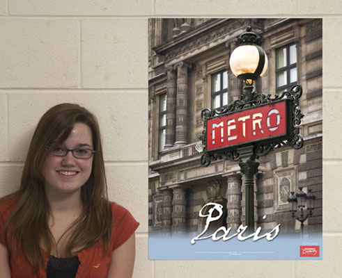 Paris Metro French Travel Poster